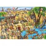 Puzzle 1000 pièces - Cartoon Collection : La traversée du désert
