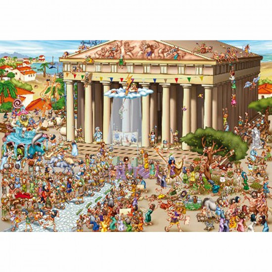 Puzzle 1000 pièces - Cartoon Collection : Acropole - Dtoys-61218CC04