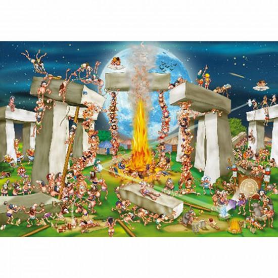 Puzzle 1000 pièces - Cartoon Collection : Stonehenge - Dtoys-61218CC02