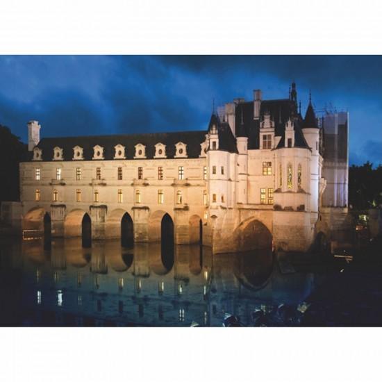 Puzzle 1000 pièces - Château de France : Château de Chenonceau - DToys-67562FC03