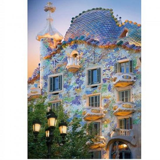 Puzzle 1000 pièces - Découverte de l'Europe : Casa Batllo,Barcelone, Espagne - Dtoys-65995DE04