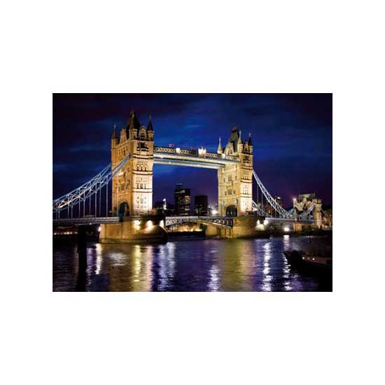 Puzzle 1000 pièces - Découverte de l'Europe : Tower Bridge, Londres - Dtoys-65995DE01