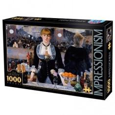Puzzle 1000 pièces - Impressionnisme - Manet : Un bar aux Folies Bergères