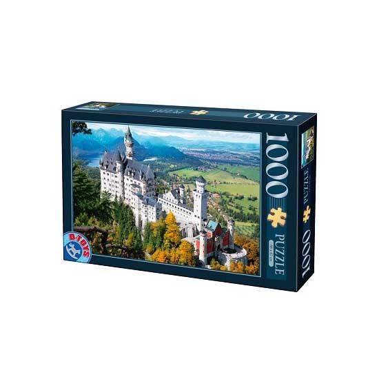 Puzzle 1000 pièces - Lieux célèbres : Château de Neuschwanstein, Allemagne - Dtoys-64288FP02