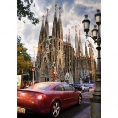 Puzzle 1000 pièces - Lieux célèbres : La Sagrada Familia, Barcelone, Espagne