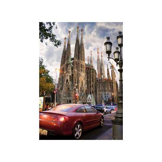 Puzzle 1000 pièces - Lieux célèbres : La Sagrada Familia, Barcelone, Espagne - Dtoys-64288FP06