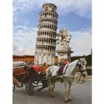 Puzzle 1000 pièces - Lieux célèbres : Tour de Pise, Italie