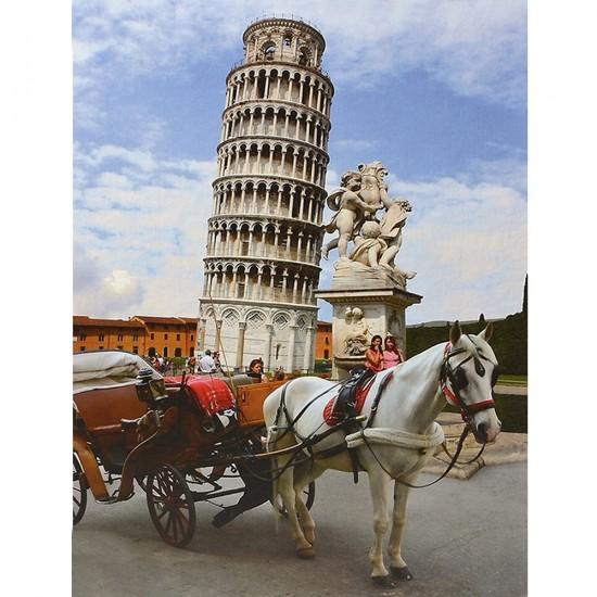 Puzzle 1000 pièces - Lieux célèbres : Tour de Pise, Italie - Dtoys-64288FP03
