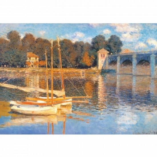 Puzzle 1000 pièces - Monet : Le pont d'Argenteuil - DToys-67548CM03