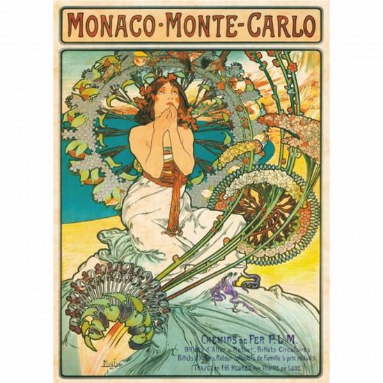 Puzzle 1000 pièces - Mucha : Monaco Monte-Carlo - DToys-66930MU10