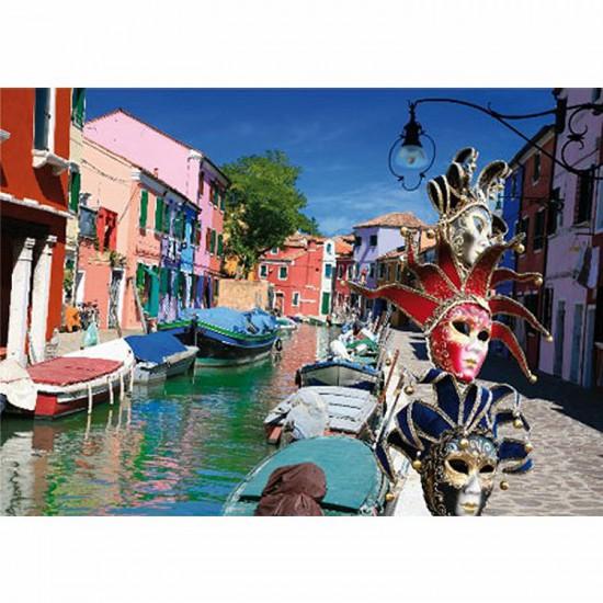 Puzzle 1000 pièces - Paysages : Burano, Italie - Dtoys-62154EC10