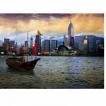 Puzzle 1000 pièces - Paysages nocturnes : Baie de Hong Kong