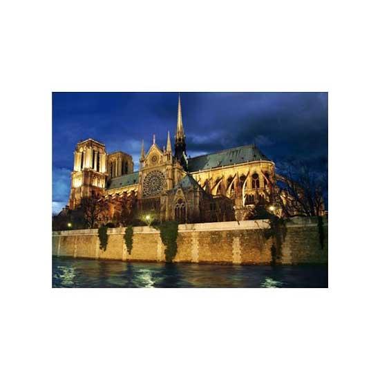 Puzzle 1000 pièces - Paysages nocturnes : Cathédrale Notre Dame de Paris - Dtoys-64301NL08