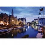 Puzzle 1000 pièces - Paysages nocturnes : Gand, Belgique
