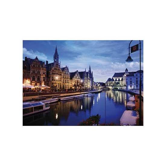 Puzzle 1000 pièces - Paysages nocturnes : Gand, Belgique - Dtoys-64301NL03