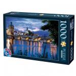 Puzzle 1000 pièces - Paysages nocturnes : Prague, République tchèque