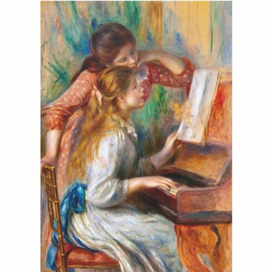 Puzzle 1000 pièces - Renoir : Jeunes filles au piano - DToys-66909RE09