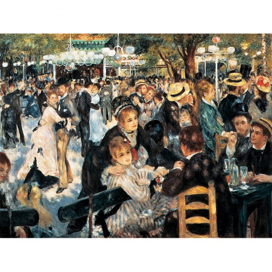 Puzzle 1000 pièces - Renoir : Le bal du Moulin de la Galette - Dtoys-66909RE06