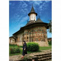 Puzzle 1000 pièces - Roumanie : Monastère Sucevita