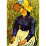 Puzzle 1000 pièces - Van Gogh : Jeune Paysanne avec un chapeau de paille