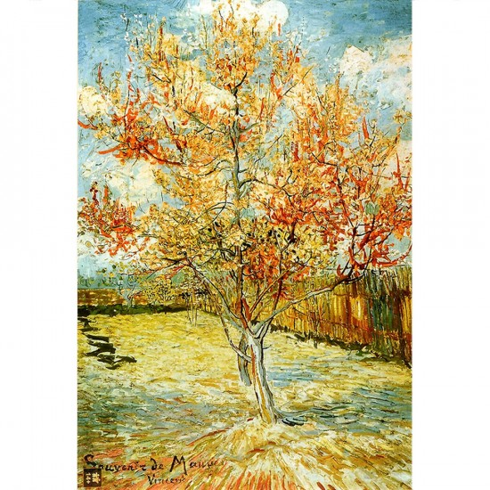 Puzzle 1000 pièces - Van Gogh : Pécher en fleurs - Dtoys-66916VG04