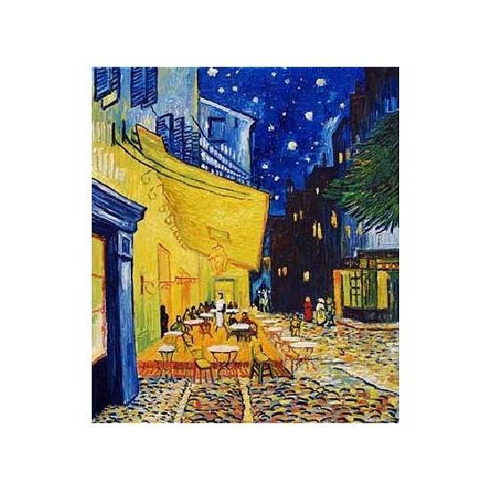 Puzzle 1000 pièces - Van Gogh : Terrasse d'un café le soir - Dtoys-66916VG09
