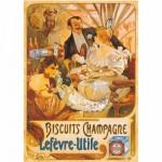 Puzzle 1000 pièces - Vintage Posters : Biscuits Champagne Lefevre-Utile