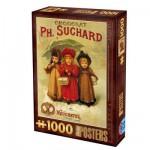 Puzzle 1000 pièces - Vintage Posters : Chocolats Ph. Suchard