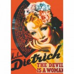 Puzzle 1000 pièces - Vintage Posters : Marlene Dietrich Le diable est une femme