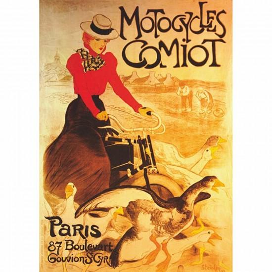 Puzzle 1000 pièces - Vintage Posters : Motocycles Comiot - DToys-67555VP02