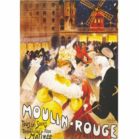 Puzzle 1000 pièces - Vintage Posters : Moulin-Rouge - DToys-67555VP08