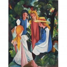 Puzzle 1000 pièces : August Macke : Quatre filles