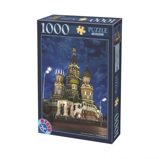Puzzle 1000 pièces : Cathédrale Saint Basile de Moscou : Russie - Dtoys-64301NL10