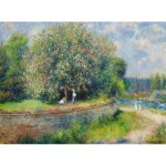 Puzzle 1000 pièces : Chestnut tree in bloom, Renoir