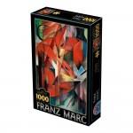 Puzzle 1000 pièces : Franz Marc : Renards