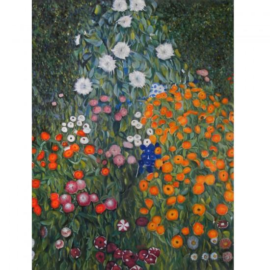 Puzzle 1000 pièces : Gustav Klimt : Jardin de ferme - Dtoys-66923KL09