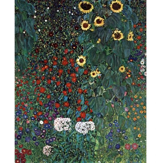 Puzzle 1000 pièces : Gustav Klimt : Le jardin aux tournesols - Dtoys-66923KL08