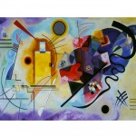 Puzzle 1000 pièces : Kandinsky : Jaune-Rouge-Bleu