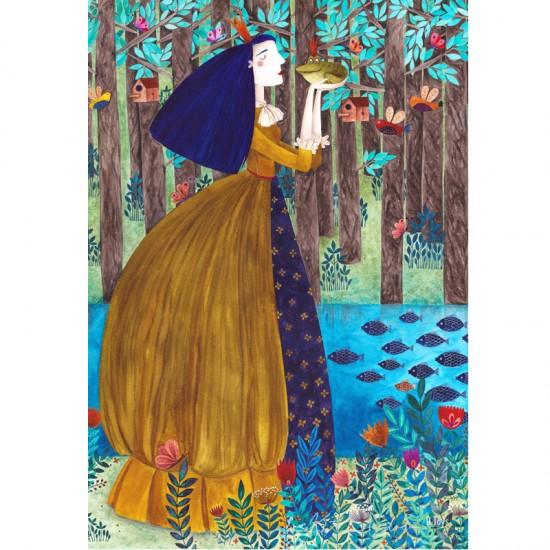 Puzzle 1000 pièces : Kürti Andrea : La Fille du Roi et la Grenouille - Dtoys-72870KA02