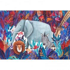 Puzzle 1000 pièces : Kürti Andrea Tropical : Savane africaine