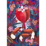 Puzzle 1000 pièces : Kürti Andrea Tropical : Toucans et perroquets