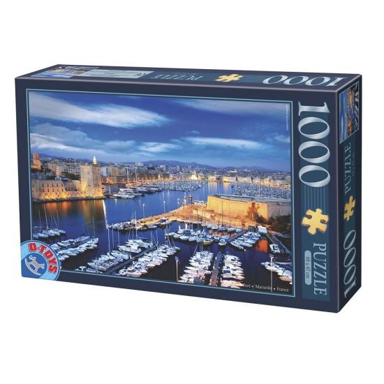 Puzzle 1000 pièces : Port de Marseille - Dtoys-62154EC16