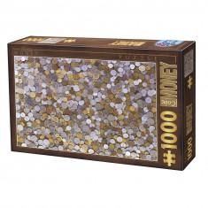 Puzzle 1000 pièces : Vintage : Pièces de monnaie