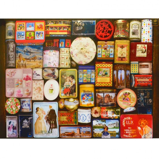 Puzzle 1000 pièces : Vintage poster : Boîtes en métal - Dtoys-67555VP16