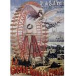 Puzzle 1000 pièces : Vintage poster : La Grande Roue de Paris