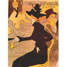 Puzzle 1000 pièces : Vintage poster : Toulouse-Lautrec : Divan japonais