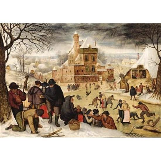 Puzzle 1000 pièces - Brueghel : L'hiver - Dtoys-66947BR04
