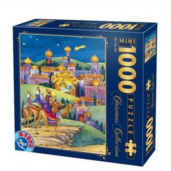 Puzzle 1000 pièces mini - Christmas Collection : Arrivée en ville - DToys-67371CM01