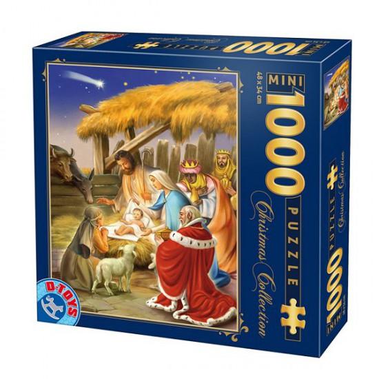 Puzzle 1000 pièces mini - Christmas Collection : La naissance - DToys-67371CM02