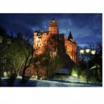 Puzzle 1000 pièces - Roumanie : Château de Bran éclairé